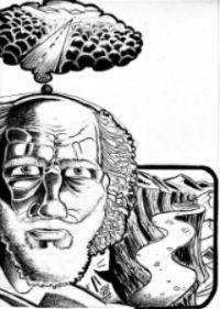 Immagine di un uomo che ha in mente un pensiero, rappresentato da una strada dritta e liscia, ma dalla bocca esce un discorso diverso, rappresentato da una strada ripida, tortuosa e piena di buche.