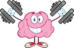Cervello che si allena con pesi